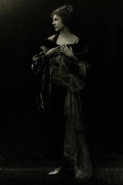 January 1st Photograph - Louise Prussing Wearing A Dress by Arnold Genthe