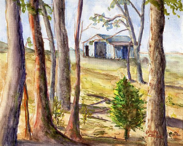 Louisiana Barn Through The Trees Art Print