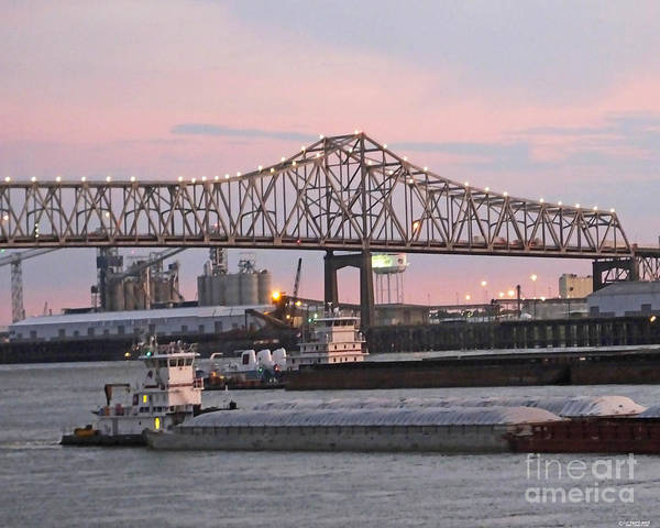 Photograph - Louisiana Baton Rouge River Commerce by Lizi Beard-Ward