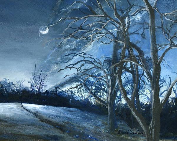 Louisiana Pasture In Winter Art Print
