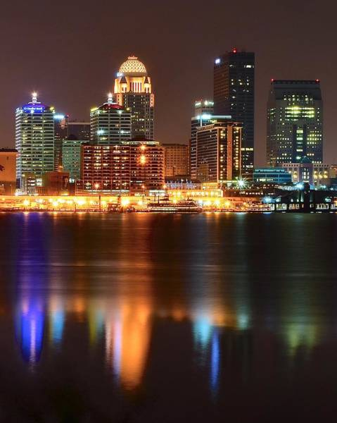 Chicago Skyline Art Photograph - Louisville At Night  by Frozen in Time Fine Art Photography