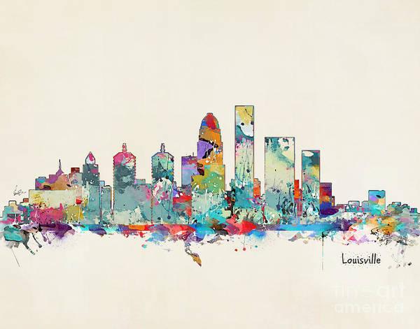 Skyline Wall Art - Painting - Louisville Kentucky Skyline by Bri Buckley