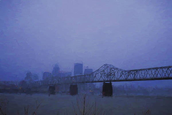 Photograph - Louisville Kentucky Skyline Digital Painting by David Haskett II