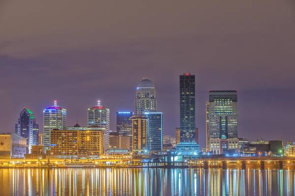State Of Indiana Photograph - Louisville Skyline 3 Dsc1984 by David Haskett II