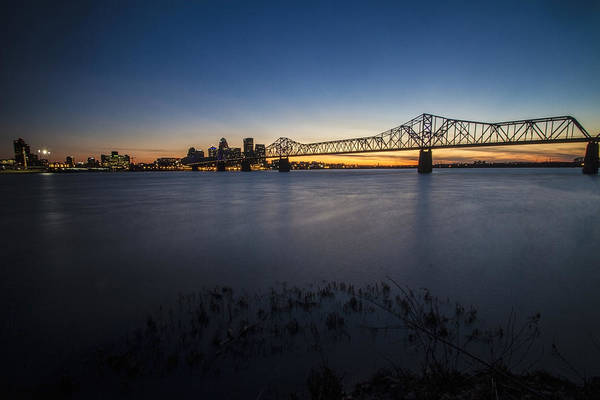 Photograph - Louisville Skyline At Dusk by Sven Brogren