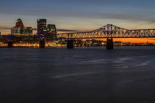 Photograph - Louisville Skyline At Dusk Telephoto by Sven Brogren