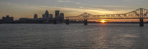 Photograph - Louisville Skyline At Sunset by Sven Brogren