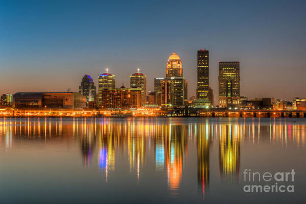 Photograph - Louisville Skyline Morning Twilight I by Clarence Holmes