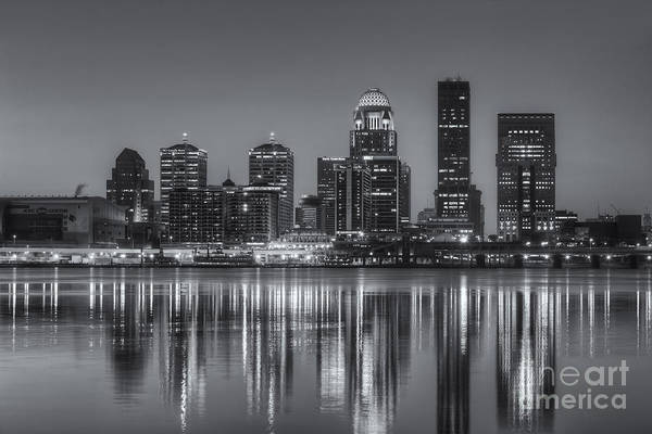 Photograph - Louisville Skyline Morning Twilight Iv by Clarence Holmes