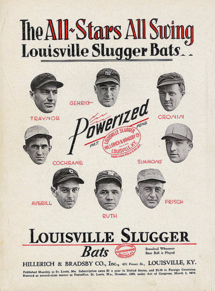 Babe Digital Art - Louisville Slugger Bats by Unknown