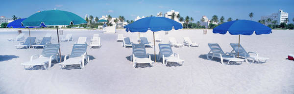 Miami-dade Photograph - Lounge Chairs On The Beach, South by Panoramic Images