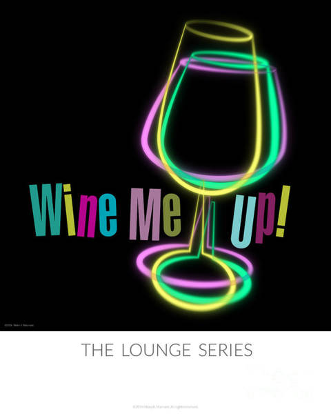 Cocktail Lounge Photograph - Lounge Series - Wine Me Up by Mary Machare