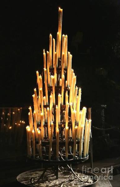 Photograph - Lourdes Grotto Candles by Carol Groenen