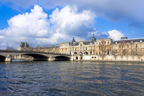 Photograph - Louvre And The Seine On A Sunny Day by Mark E Tisdale