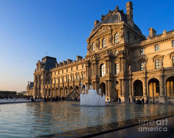 Cours Photograph - Louvre Pavilion De Richelieu  by Louise Heusinkveld