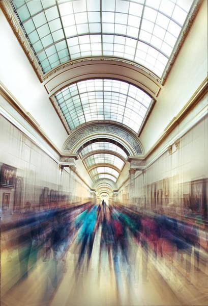 Champ Photograph - Louvre Rush by Ivan Vukelic