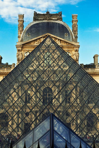 Solidity Photograph - Louvre Symmetry by Kirk Strickland