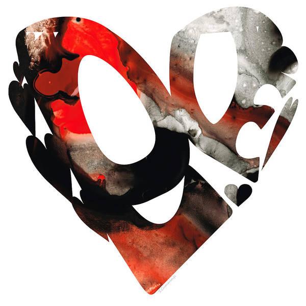 Painting - Love 18- Heart Hearts Romantic Art by Sharon Cummings