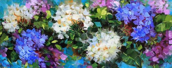 Medina Wall Art - Painting - Love Abounds Hydrangeas by Nancy Medina