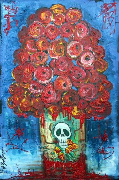 Wall Art - Painting - Love And Death by Laura Barbosa