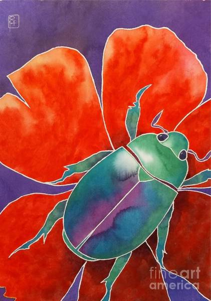 Wall Art - Painting - Love Beetle by Robert Hooper