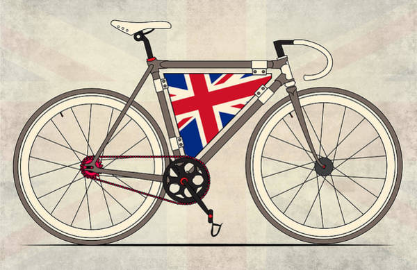 Bike Digital Art - Love Bike Love Britain by Andy Scullion