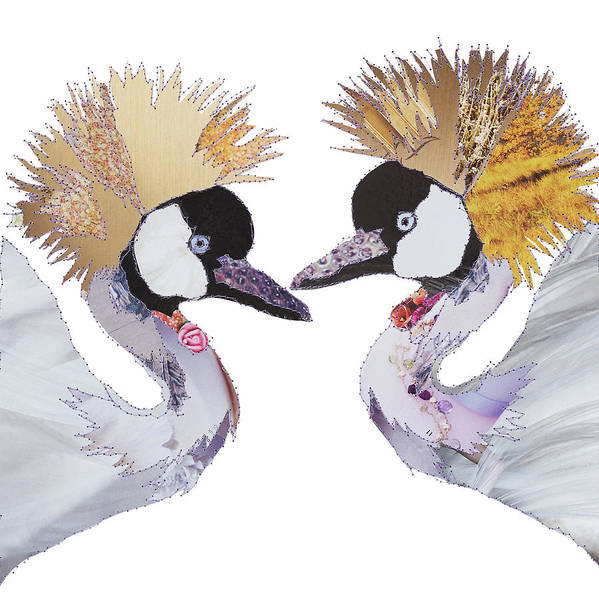 Stitch Painting - Love Birds - Cranes by MGL Meiklejohn Graphics Licensing
