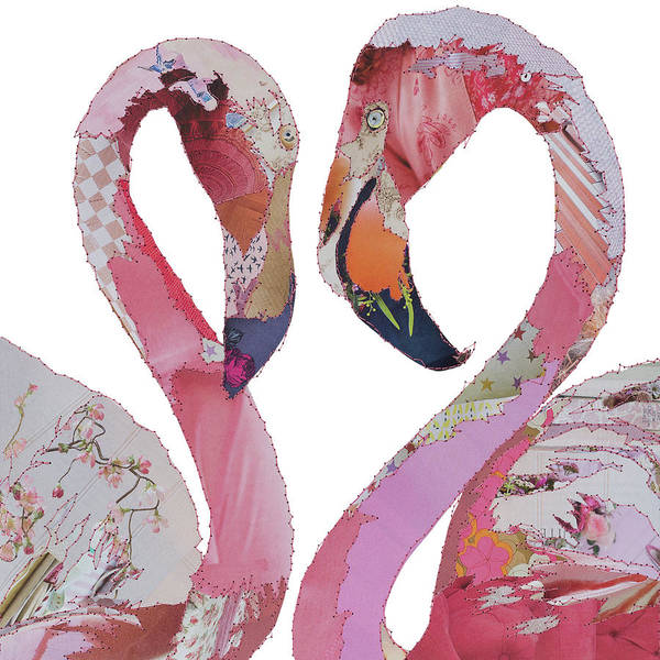 Stitch Painting - Love Birds - Flamingos by MGL Meiklejohn Graphics Licensing