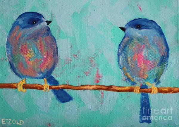 Painting - Love Birds by Melinda Etzold