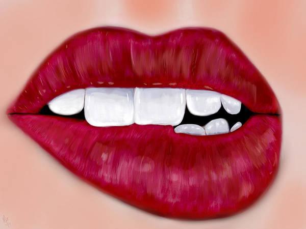 Love Bites  Art Print by Mathieu Lalonde