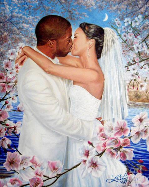 Honeymoon Painting - Love Blossoms by James Loveless