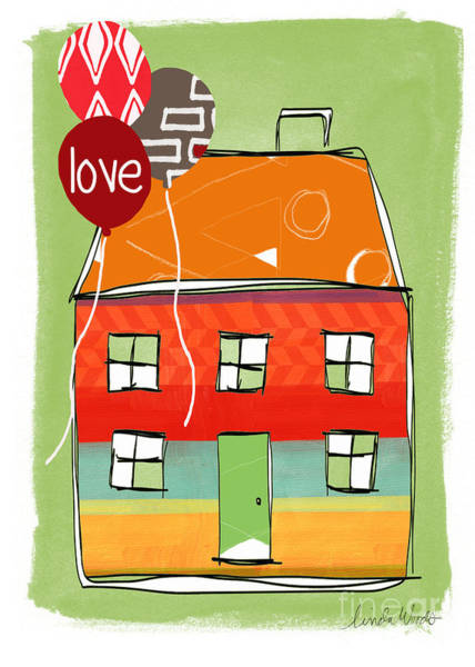 Home Wall Art - Mixed Media - Love Card by Linda Woods