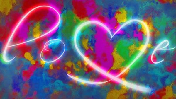Digital Art - Love Color Splashed by Catherine Lott