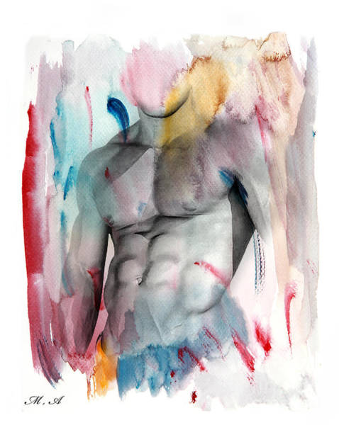 Bodybuilder Painting - Love Colors  by Mark Ashkenazi