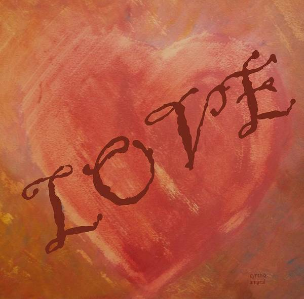 Painting - Love by Cynthia Amaral