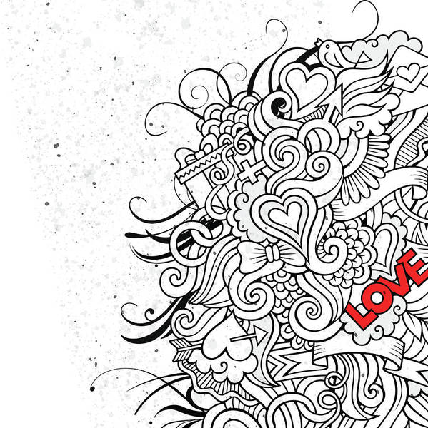Doodle Painting - Love Flair by Bomo