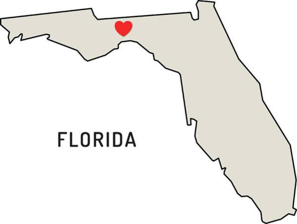 Florida Digital Art - Love Florida State by Chokkicx