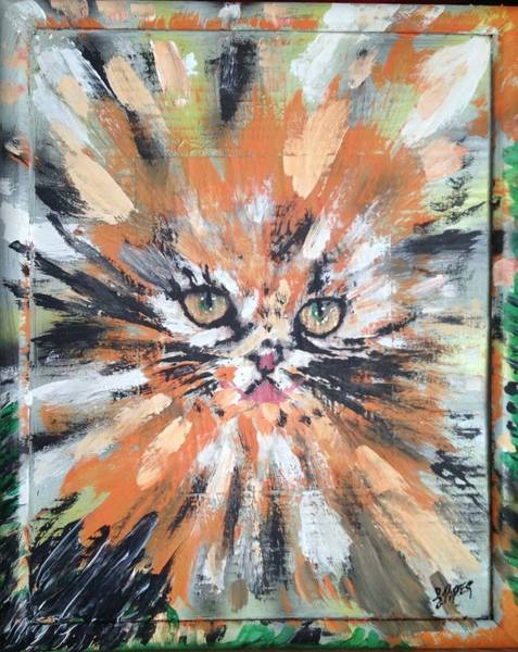 Manx Cat Wall Art - Painting - Love For Cats by Lisa Piper