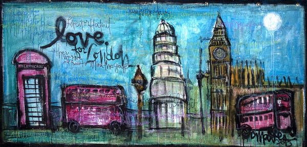 Painting - Love For London by Laurie Maves ART