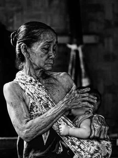 Lady Photograph - Love For My Grandson by Ari Widodo