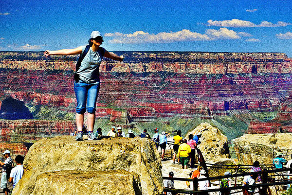 Photograph - Love Grand Canyon This Much by Bob and Nadine Johnston