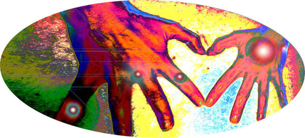 Wall Art - Mixed Media - Love Hands by Laura Pierre-Louis