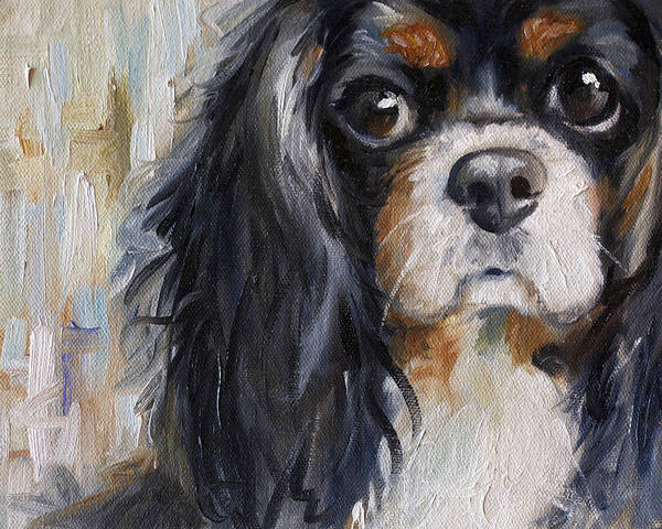 Puppy Painting - Love by Mary Sparrow