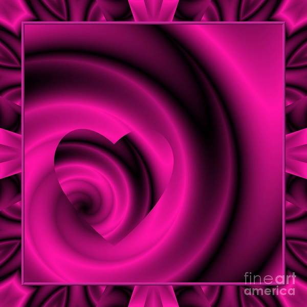 Digital Art - Love In Disguise Purple Passion Framed by Rose Santuci-Sofranko