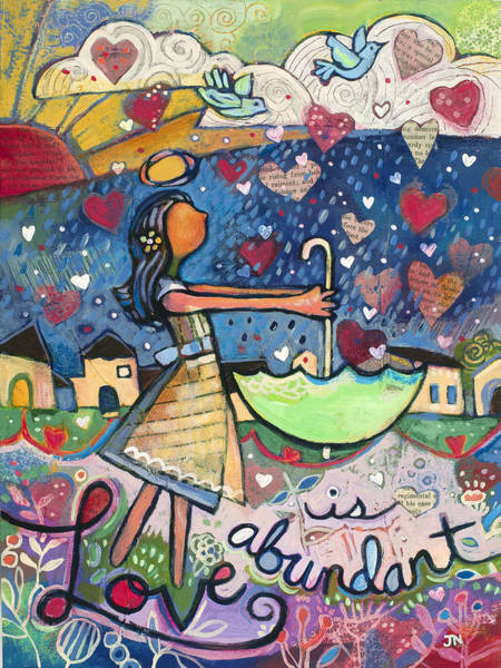 Dazzle Wall Art - Painting - Love Is Abundant by Jen Norton