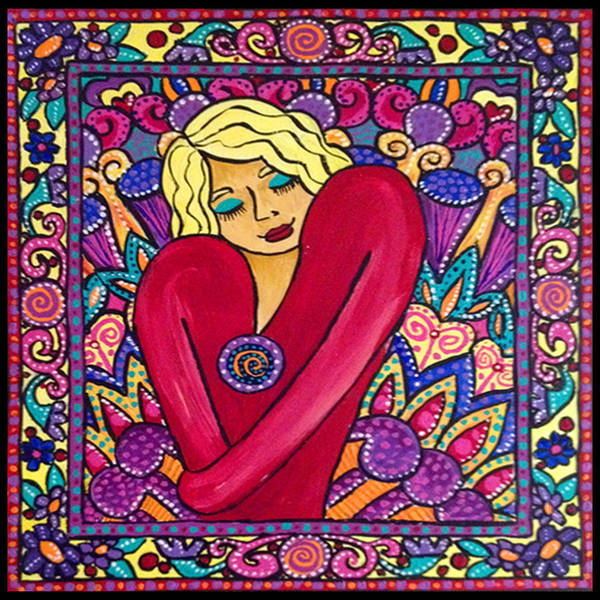 Sacred Heart Mixed Media - Love Is All by Shelley Bredeson