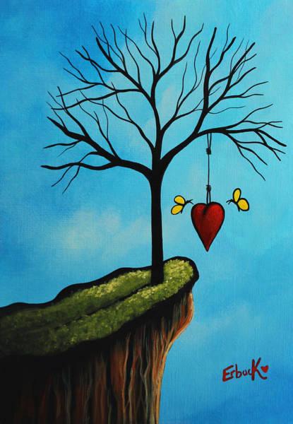 Wall Art - Painting - Love Is All We Need Original Artwork by Erback Art