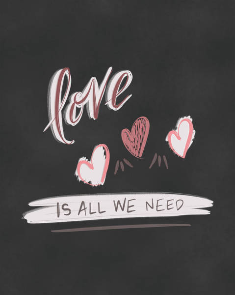 Wedding Painting - Love Is All We Need by Tara Moss
