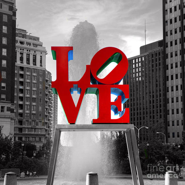 Pa Photograph - Love Is Always Black And White Square by Paul Ward