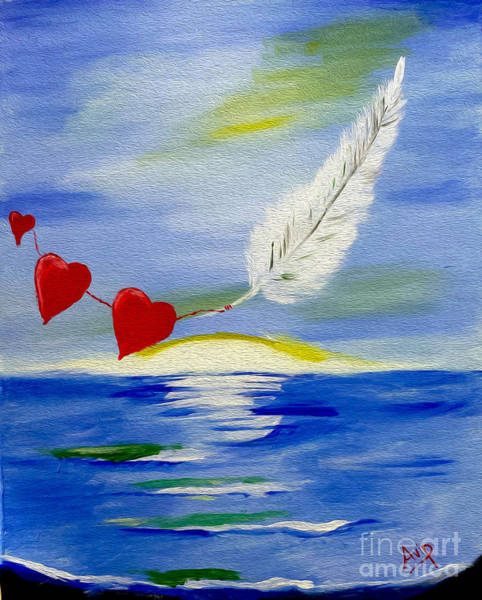 Avi Painting - Love Is In The Air by Avishai Avi     Peretz